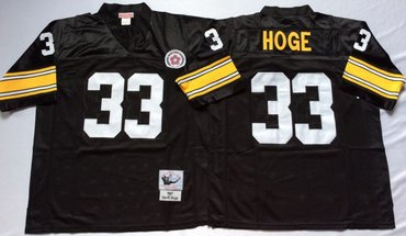 ce6bb6ca9 Mitchell And Ness Steelers  33 Merril Hoge Black Throwback Stitched NFL  Jersey