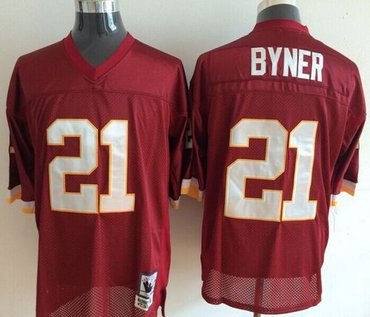 Mitchell And Ness Washington Redskins  21 Earnest Byner Red Throwback  Stitched NFL Jersey 7ae949f43