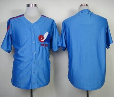 Montreal Expos Blank Blue Mitchell And Ness Throwback Baseball Jersey f965bd06f