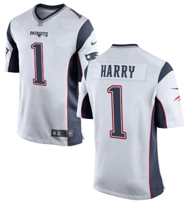 New England Patriots #1 N'Keal Harry Nike Limited White Jersey