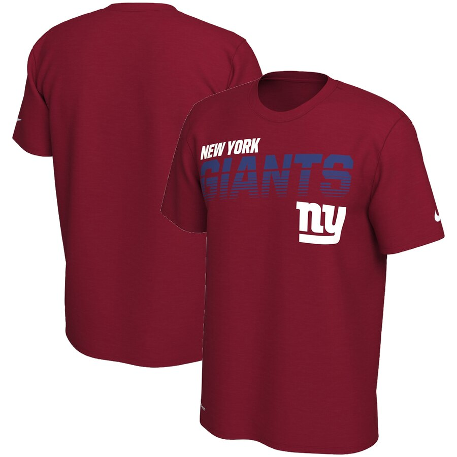 New York Giants Nike Sideline Line Of Scrimmage Legend Performance T-Shirt Red
