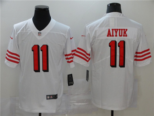 Nike 49ers 11 Brandon Aiyuk White 2020 NFL Draft First Round Pick Color Rush Vapor Untouchable Limited Jersey