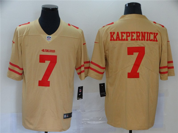 Nike 49ers 7 Colin Kaepernick Cream Inverted Legend Limited Jersey