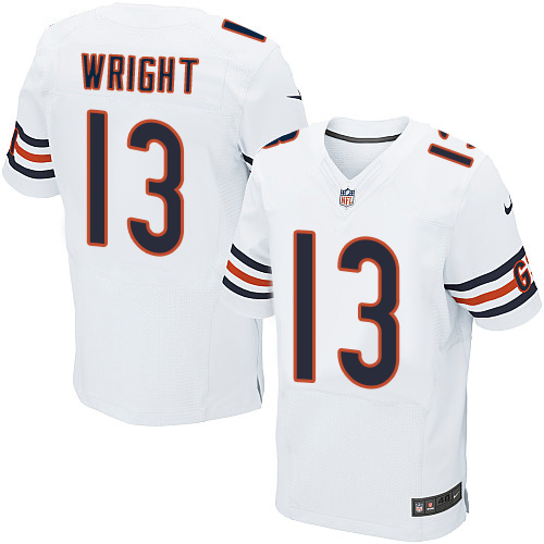 Nike Bears  13 Kendall Wright White Men s Stitched NFL Elite Jersey 62afab7c1