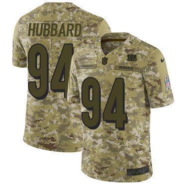 8ef231253 ... netherlands nike bengals 94 sam hubbard camo mens stitched nfl limited  2018 salute to service jersey