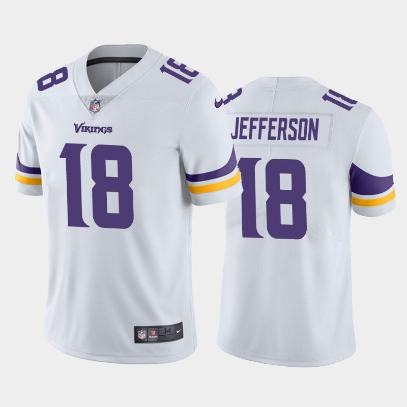 Nike Vikings 18 Justin Jefferson White 2020 NFL Draft First Round Pick Vapor Untouchable Limited Jersey