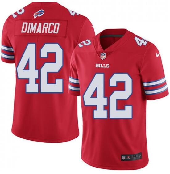 Nike Bills 42 Patrick DiMarco Red Color Rush Limited Jersey