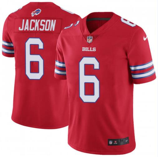 Nike Bills 6 Tyree Jackson Red Color Rush Limited Jersey