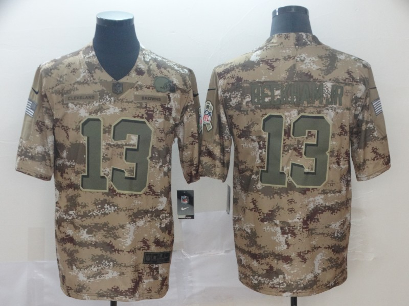 Nike Browns 13 Odell Beckham Jr Camo Salute To Service Limited Jersey