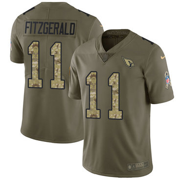 Nike Cardinals  11 Larry Fitzgerald Olive Camo Youth Stitched NFL Limited  2017 Salute to Service Jersey 12c8566a5