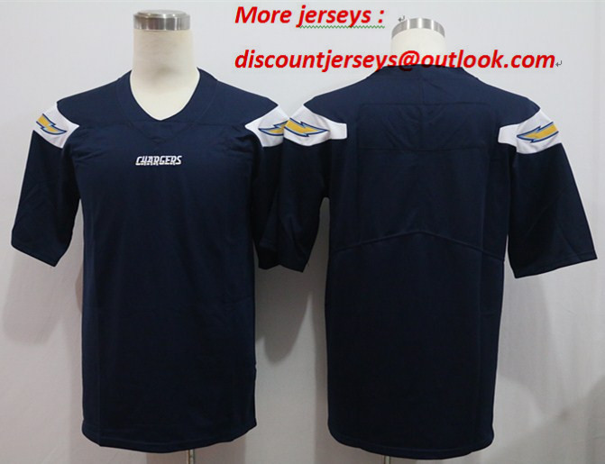 Nike Chargers Blank Navy Vapor Untouchable Limited Jersey