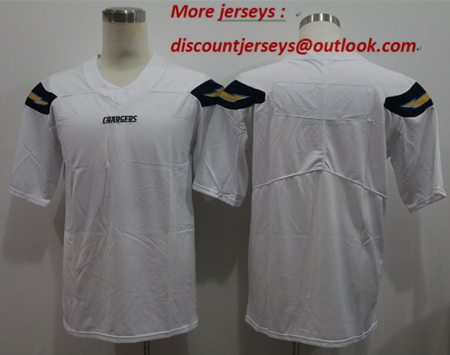 Nike Chargers Blank White Vapor Untouchable Limited Jersey