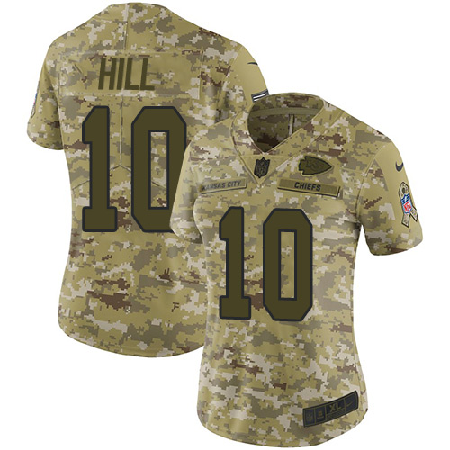 New Nike Chiefs #10 Tyreek Hill Camo Women's Stitched NFL Limited 2018  for cheap