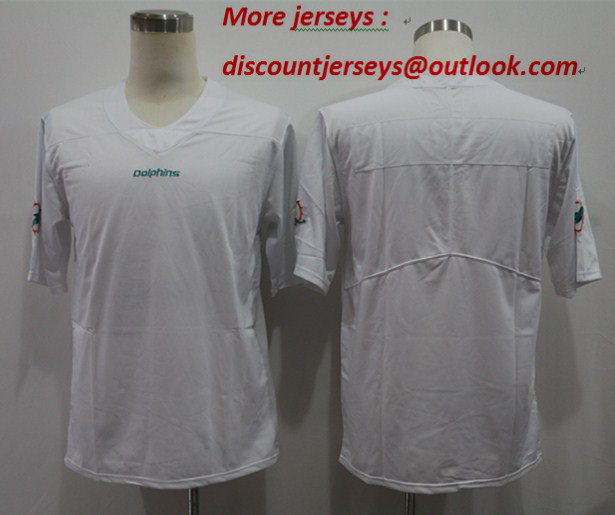 Nike Dolphins Blank White Vapor Untouchable Limited Jersey
