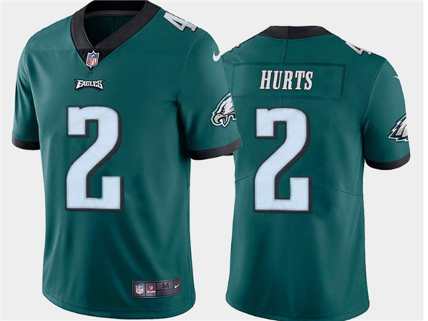 Nike Eagles 2 Jalen Hurts Green 2020 NFL Draft First Round Pick Vapor Untouchable Limited Jersey