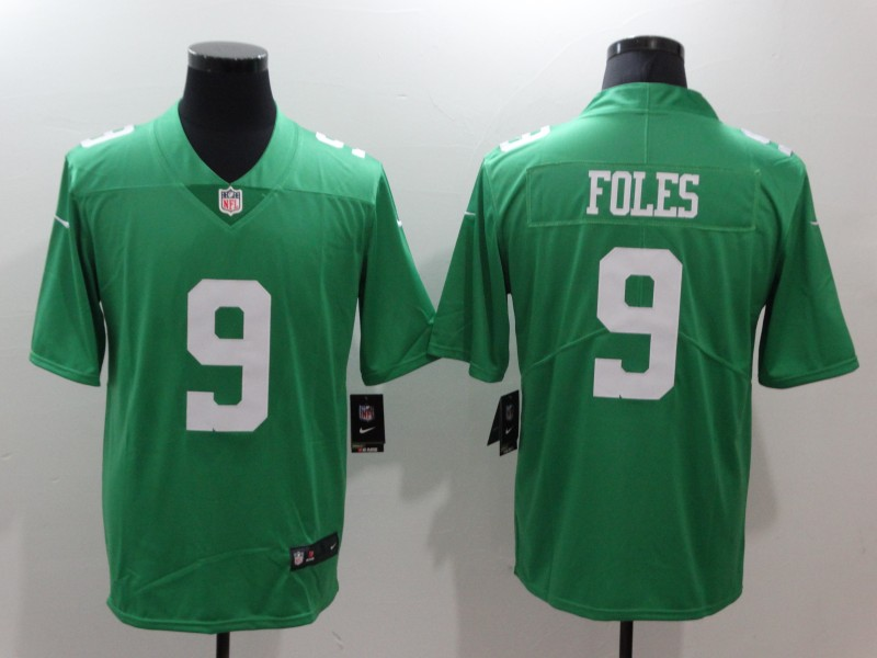 3fe91a61946 Nike Eagles 9 Nick Foles Green Throwback Vapor Untouchable Player Limited  Jersey