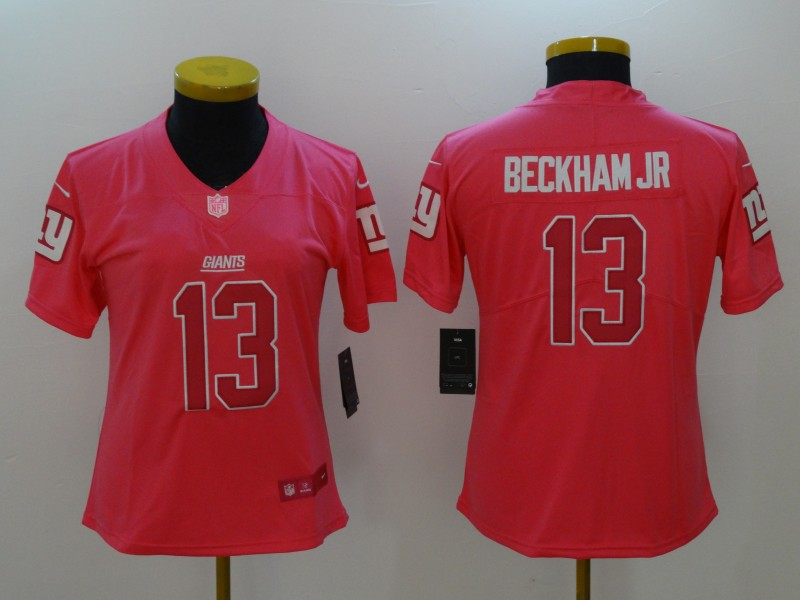 Nike Giants  87 Sterling Shepard Pink Women s Stitched NFL Limited ... e57fe001e