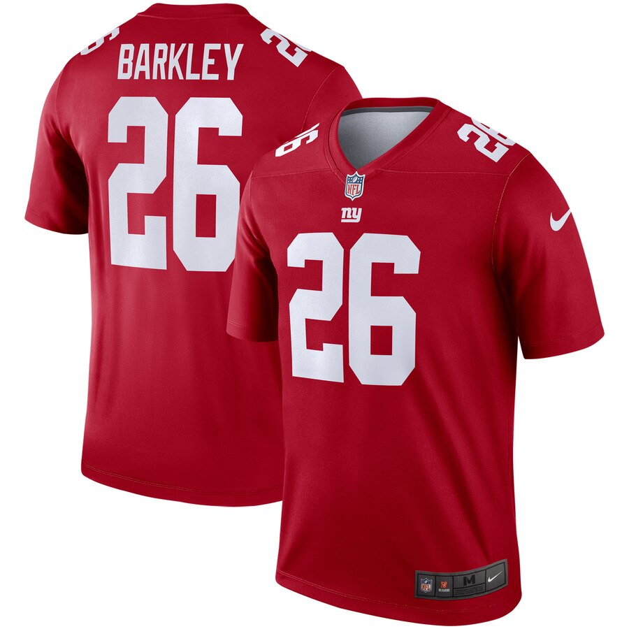 Nike Giants 26 Saquon Barkley Red Inverted Legend Jersey