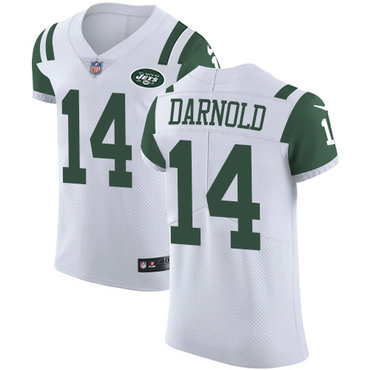 lowest price 44772 b9e24 Nike Jets #14 Sam Darnold Green Team Color Men's Stitched ...