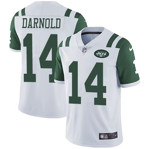 ca35acc7f3f Nike Jets 14 Sam Darnold White Youth Vapor Untouchable Limited Jersey