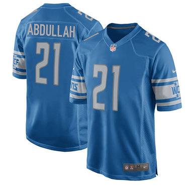 Hot Nike Lions #21 Ameer Abdullah Light Blue Team Color Youth Stitched  for sale