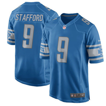 Nike Lions  9 Matthew Stafford Light Blue Team Color Youth Stitched NFL  Elite Jersey 15f8f0058