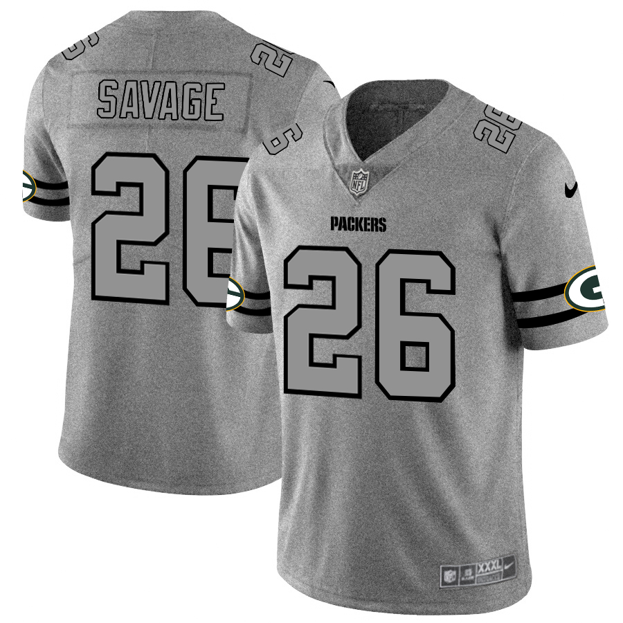 Nike Packers 26 Darnell Savage Jr. 2019 Gray Gridiron Gray Vapor Untouchable Limited Jersey