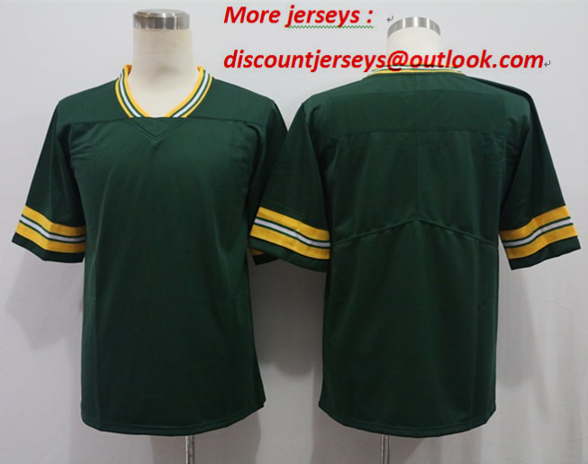 Nike Packers Blank Green Vapor Untouchable Limited Jersey