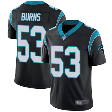 Nike Panthers 53 Brian Burns Black Vapor Untouchable Limited Jersey