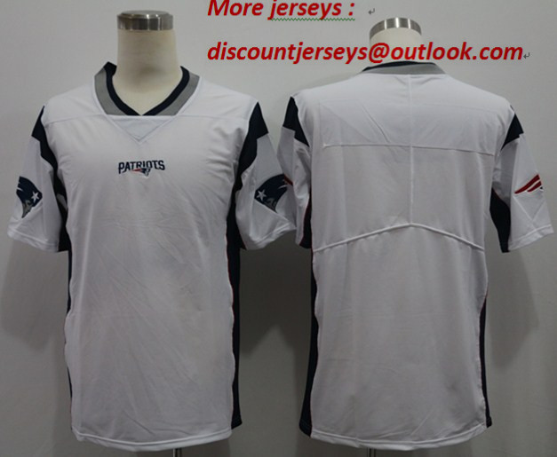 Nike Patriots Blank White Vapor Untouchable Limited Jersey