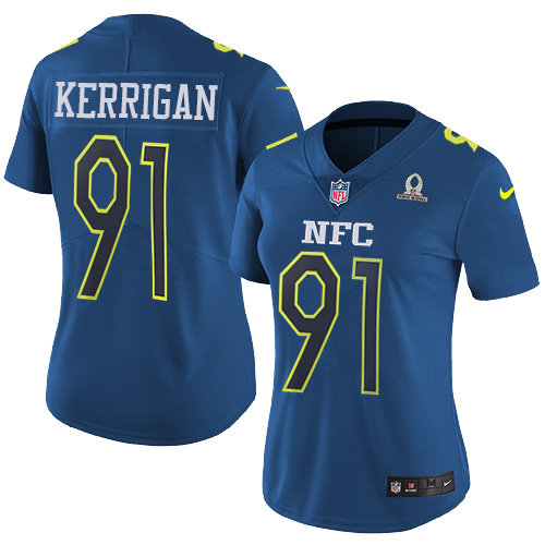 18a01968cf5 Nike Redskins #91 Ryan Kerrigan Navy Women's Stitched NFL Limited NFC 2017  Pro Bowl Jersey