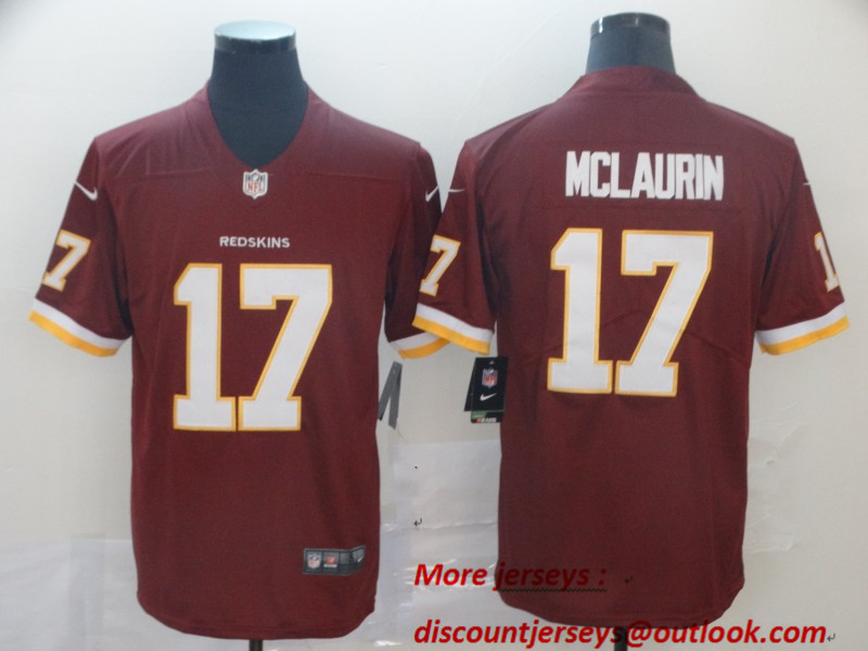 Nike Redskins 17 Terry McLaurin Burgundy Vapor Untouchable Limited Jersey