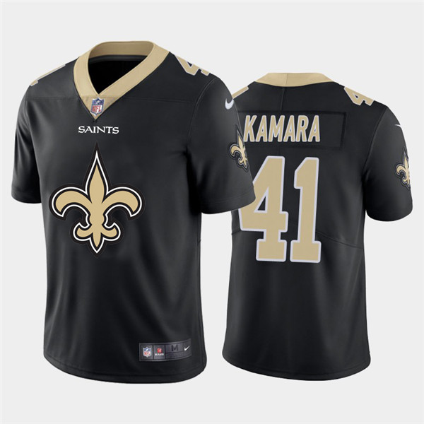 Nike Saints 41 Alvin Kamara Black Team Big Logo Vapor Untouchable Limited Jersey