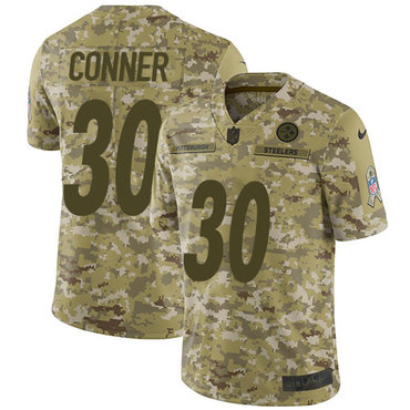 131380da267 Nike Steelers #30 James Conner Camo Men's Stitched NFL Limited 2018 Salute  To Service Jersey
