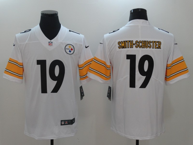 44d98753d Nike Steelers 19 JuJu Smith-Schuster White Vapor Untouchable Player Limited  Jersey