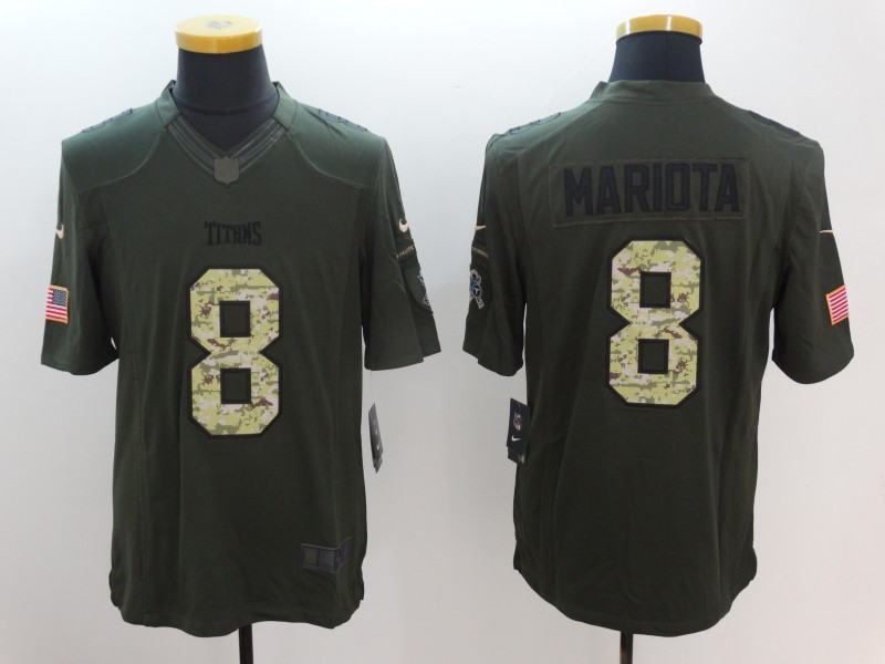 Nike Tennessee Titans  8 Marcus Mariota Green Men s Stitched NFL Limited  Salute To Service Jersey 4cd74cf5a