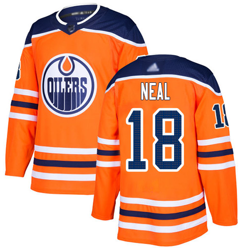 Oilers #18 James Neal Orange Home Authentic Stitched Hockey Jersey