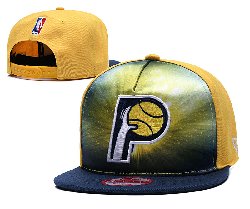 Pacers Galaxy Logo Yellow Adjustable Hat TX
