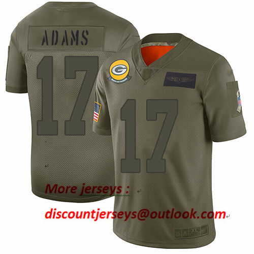 Packers #17 Davante Adams Camo Youth Stitched Football Limited 2019 Salute to Service Jersey