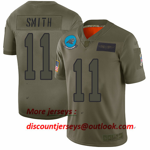 Panthers #11 Torrey Smith Camo Youth Stitched Football Limited 2019 Salute to Service Jersey