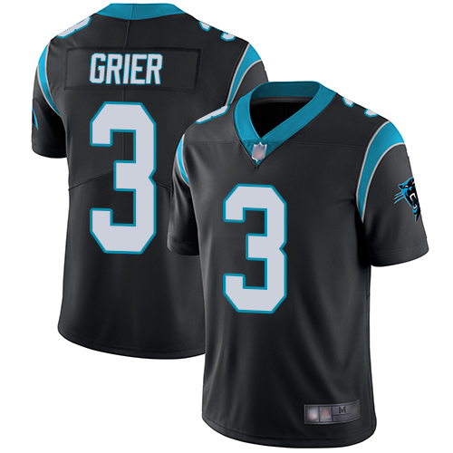 Panthers #3 Will Grier Black Team Color Men's Stitched Football Vapor Untouchable Limited Jersey