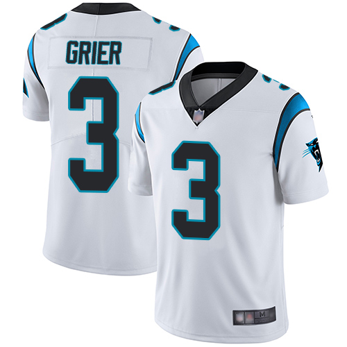 Panthers #3 Will Grier White Men's Stitched Football Vapor Untouchable Limited Jersey
