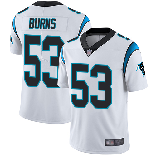 Panthers #53 Brian Burns White Men's Stitched Football Vapor Untouchable Limited Jersey