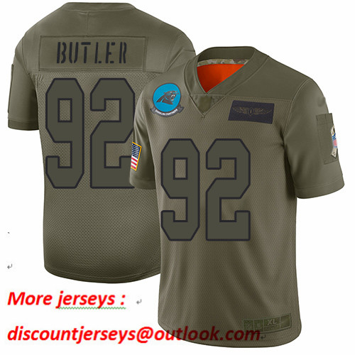 Panthers #92 Vernon Butler Camo Youth Stitched Football Limited 2019 Salute to Service Jersey