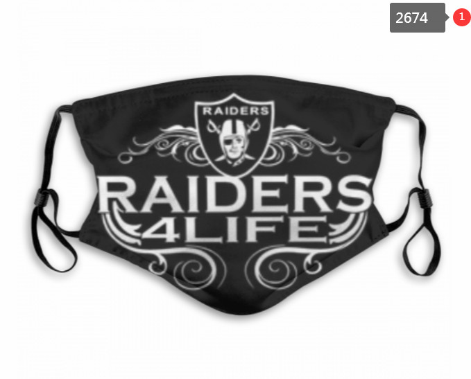 Raiders Mask with Filter Double Protection PM2.5 (52)