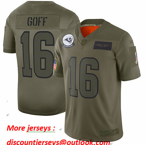 Rams #16 Jared Goff Camo Youth Stitched Football Limited 2019 Salute to Service Jersey