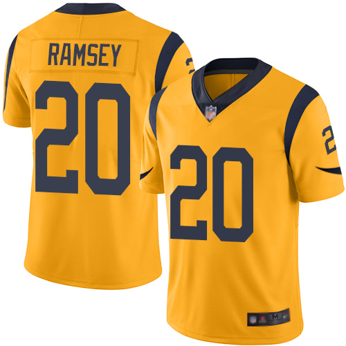 Rams #20 Jalen Ramsey Gold Men's Stitched Football Limited Rush Jersey