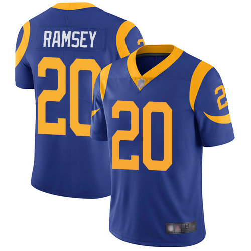 Rams #20 Jalen Ramsey Royal Blue Alternate Youth Stitched Football Vapor Untouchable Limited Jersey