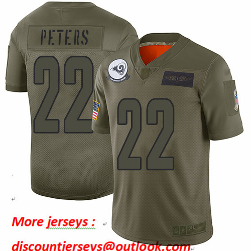 Rams #22 Marcus Peters Camo Youth Stitched Football Limited 2019 Salute to Service Jersey