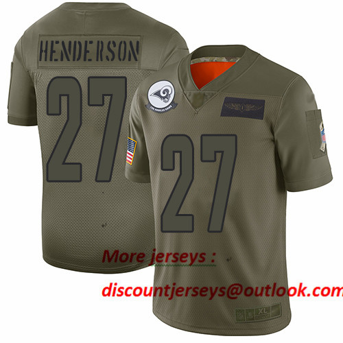 Rams #27 Darrell Henderson Camo Men's Stitched Football Limited 2019 Salute To Service Jersey